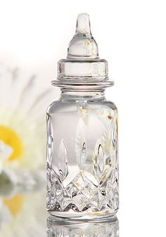 Waterford Crystal Lismore Collectible Baby Bottle with Engraving Area, Tall, Wide Baby Bling, Camo Baby, After Baby, Baby Arrival, Pregnant Mom, First Time Moms, First Baby, Baby Hacks, Baby Accessories