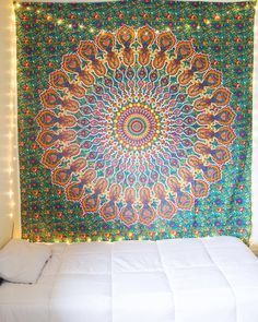 Tropical Mandala Tapestry