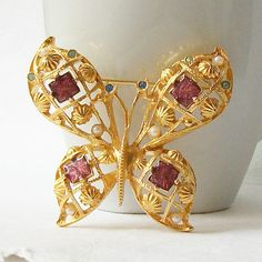Vintage Avon Butterfly Brooch by VintageSundries on Etsy