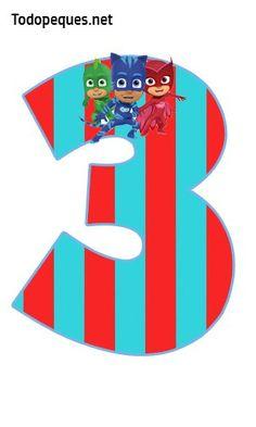 Anteriormente compartimos en el sitio el alfabeto de los Pj Masks, completo y con su descarga gratuita. En esta publicación podrás descargar del mismo modo, los números de los Héroes en Pijamas, co… Los Pj Masks, Festa Pj Masks, Pj Masks Printable, Printable Numbers, Birthday Numbers, Mask Party, Peppa Pig, Holidays And Events, Party Themes