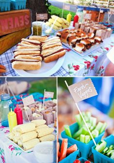Farmers Market Inspired Backyard BBQ {First Birthday} - Party Ideas Soirée Bbq, Bbq Menu, Backyard Birthday Parties, Birthday Bbq, Birthday Ideas, Park Birthday, Picnic Parties, Party Decoration, Bbq Decorations