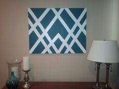 New Geometric Art Diy Canvas Ideas 29 Ideas Painters Tape Art, Tape Painting, Diy Painting, Painting Walls, Diy Artwork, Diy Wall Art, Wall Decor, Diy Wand, Cuadros Diy