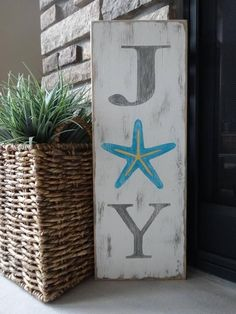 Items similar to JOY sign. Hand painted Christmas sign/ Coastal Christmas/ Beachy Christmas sign/ Starfish Christmas sign/ Tropical Christmas decor on Etsy Tropical Christmas Decorations, Coastal Christmas Decor, Nautical Christmas, Tropical Decor, Christmas Signs, Coastal Decor, White Christmas, Christmas Crafts, Christmas Bedroom