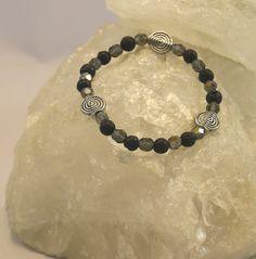 Armbänder - Stretcharmband mit Lavaperlen - ein Designerstück von perlenchris bei DaWanda