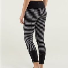 SALE  NEED 2 Go Lululemon Runday Stripe Pants Practically new, love these but I've absolutely never worn them  They are in perfect condition and hard to find! Please notify me before purchasing because I'd rather sell off my Ⓜ️ ercari! lululemon athletica Pants