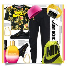 """""""Just Do It."""" by helenaymangual ❤ liked on Polyvore featuring NIKE, Henri Bendel, NARS Cosmetics and Missoni"""