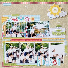 Yohko Takiguchi_kibasen_layout / fun summer layout with 6 photos!