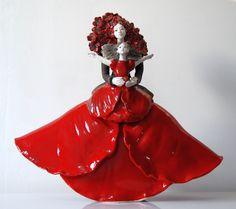 Sculpture Céramique Raku Maman Coquelicot 2014 Pauline Wateau