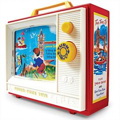 Introduced in 1966, this music box and TV has been stimulating little ones for decades. With two favourite tunes playing and a lovely scene scrolling by, your child will be perfectly entertained. Kids can hear favourite songs as pictures scroll by Plays 'Row, Row, Row Your Boat' and 'London Bridge is Falling Down' as pictures scroll on screen Ages 12 months and up Tune Music, Canada Shopping, Box Tv, My Childhood Memories, Vintage Recipes, Fisher Price, Kids Gifts, Online Furniture, Vintage Toys
