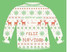 feliz navidad Christmas Sweaters, Template, Printables, Stamp, Cards, Merry Christmas, Stamps, Vorlage, Model