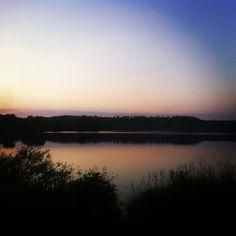Sunset in Wiesensee im Westerwald