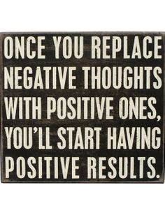'Positive Results' Wall Sign