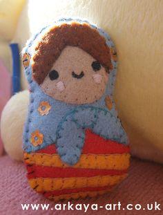 Felt Matryoshka Russian Doll