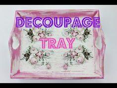 Decoupage Tray - Fast & Easy Tutorial - DIY
