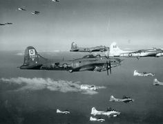 B-17 bombers from the 100TH BOMB GROUP