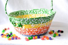 Hey, I found this really awesome Etsy listing at https://www.etsy.com/listing/584795026/rainbow-easter-basket-handmade-kids