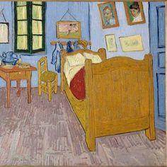 Van Gogh, Vincent's Bedroom in Arles, September Oil on canvas, x 74 cm. Musée d'Orsay (officiel), Paris via Van Gogh/The Life FB Art Van, Van Gogh Art, Vincent Van Gogh, Van Gogh Museum, Van Gogh Pinturas, Van Gogh Paintings, Art Plastique, Oeuvre D'art, Monet