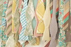 pastel wedding // pastel bowties