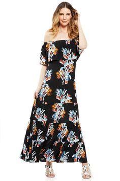 Pin for Later: 24 Kleider, die perfekt für den Besuch einer Strandhochzeit sind  Rebecca Minkoff Off the Shoulder Maxi Dress ($368)