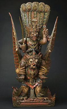 The Demon King Ravana Riding a Mythical Bird