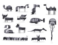 More Calligraphy Animals by Adrew Fox