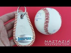 ▶ DIY Learn How to Make a Baseball Key Chain from a Base Ball Keychain Craft Tutorial - YouTube