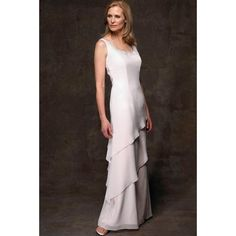 Gorgeous Tiered Beaded Round Neckline Floor-Length Mother of the Bride Dresses