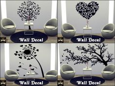Sims 4 CC's - The Best: Wall Tattoos by Naddiswelt