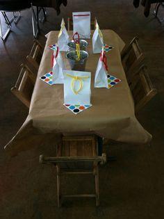 Children's table at rehearsal dinner