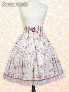 Innocent World / Skirt / Rose Striped Skirt