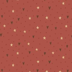 Hometown Holiday - Stars & Hearts in Light Red
