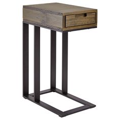Metal & Wood Side Table/Coffee Tables & Side Tables/Living Room/Furniture|Bouclair.com