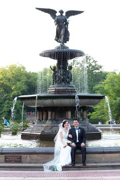 Central Park wedding #Bethesda fountain