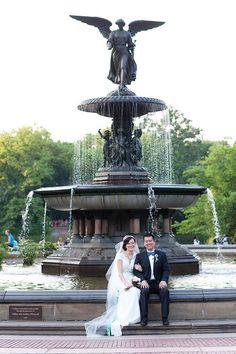 Central Park wedding #Bethesda fountain