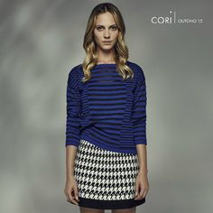 Mix&Match super hype da nossa cliente Cori: listras + pied de coq.