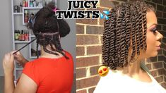 How To Twists Natural Hair Properly As A Protective Style - No Added Hair Needed! Natural Hair Twists, Long Natural Hair, Natural Hair Journey, Going Natural, Curly Hair Braids, Curly Hair Styles, Natural Hair Styles, Make Hair Grow, How To Make Hair