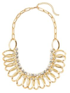 Oval Link Bib Necklace by Leslie Danzis at Gilt