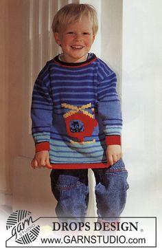 Baby - Free knitting patterns and crochet patterns by DROPS Design Baby Boy Knitting Patterns, Knitting For Kids, Knit Patterns, Free Knitting, Knitting Projects, Baby Knitting, Drops Design, Pull Crochet, Knit Crochet
