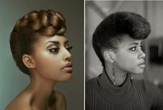 Pompadour | 7 Pretty Perfect Natural Hairstyles for Black Brides