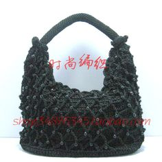 Free shipping Winnie's Black knitted net bag line hook package material kit crochet bag woven bag hook package line