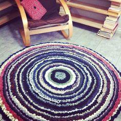 Homemade rag rug