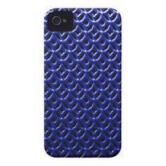 Blue Grille iPhone 4 Case-Mate Cases