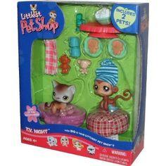 Littlest Pet Shop 2-Pack with Accessories TV Night with Monkey & Kitten Hasbro http://www.amazon.com/dp/B000JWW6RO/ref=cm_sw_r_pi_dp_Z4Lbub16SS1F9