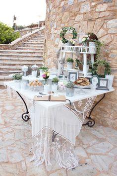 Ρομαντικος γαμος στον Πυργο Πετρεζα   Κατερινα & Jean Baptiste  See more on Love4Weddings  http://www.love4weddings.gr/gamos-pyrgos-petreza/