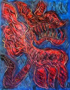 """""""Lucifero II"""" 2012 Tecnica mista su cartoncino 48x38 ©Pietro Gargano"""