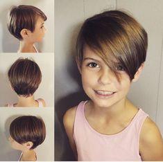 28 Ideas Haircut Girl Kids Pixie Cuts For 2019 Little Girls Pixie Haircuts, Little Girl Short Haircuts, Kids Girl Haircuts, Short Hair For Kids, Short Pixie Haircuts, Little Girl Hairstyles, Pixie Hairstyles, Short Hair Cuts, Pixie Cut For Kids