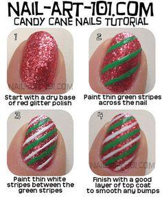 christmas nail tutorials | Christmas Nail Art Tutorials 2013 2014 X mas Nails 12 Easy Christmas ...
