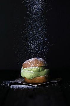 gluten free Cream Puffs with Matcha Coconut Cream