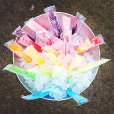 Beer Tub filled with ice pops