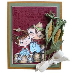 Stampendous Themes » Kiddos » Cling Hay Ride Kiddos